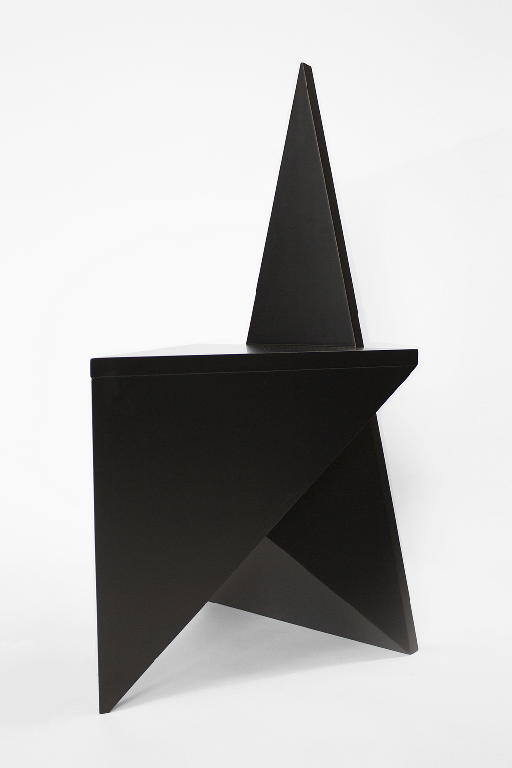 VANISHING TWIN CHAIR, 2015 BLACK PAINTED WOOD  PDF  -  INQUIRE  +  MORE