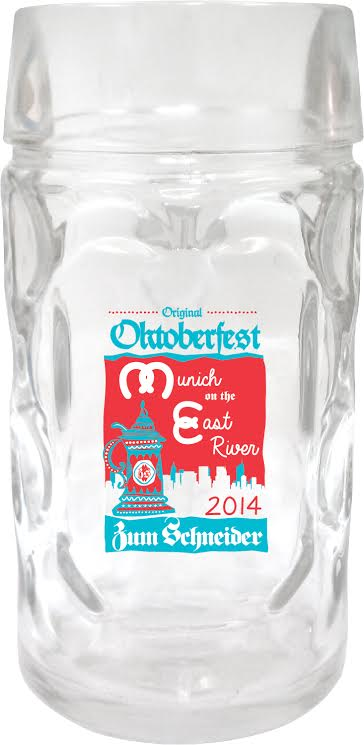"Your original ""Munich on the East River"" Oktoberfest Liter mug!"