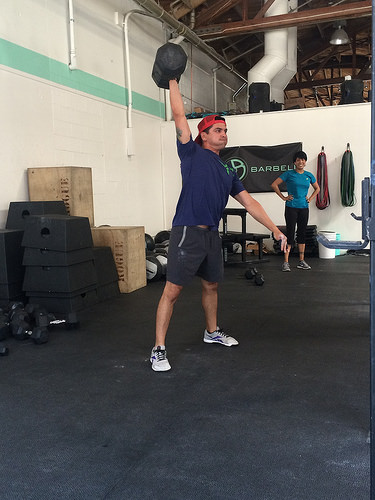 Andrew can do awesome things with dumbbells too.