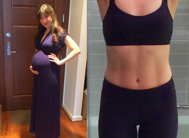 From giving birth to abs in 5 months!