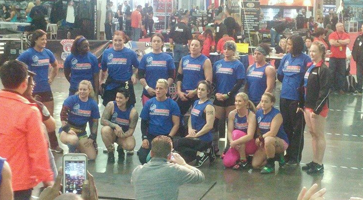 Kristin with the rest of her women in her weight class.