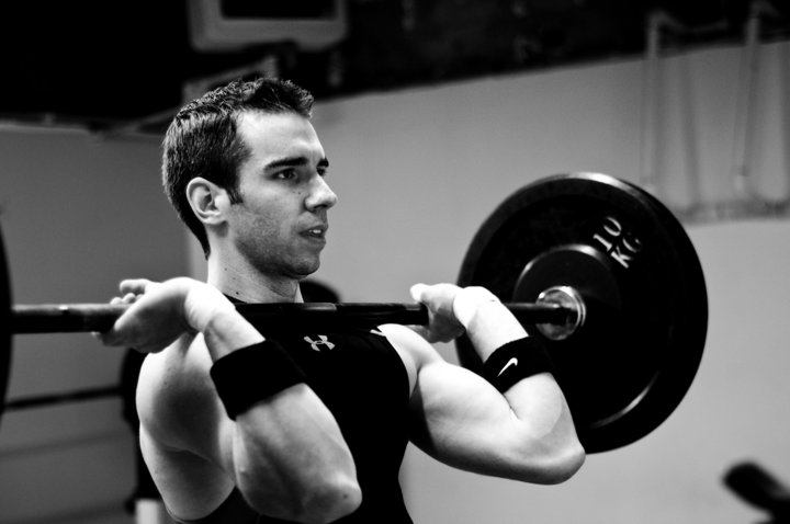 Photo from Nathan's earlier CrossFit days. From the beginning this man was serious about his CrossFit.