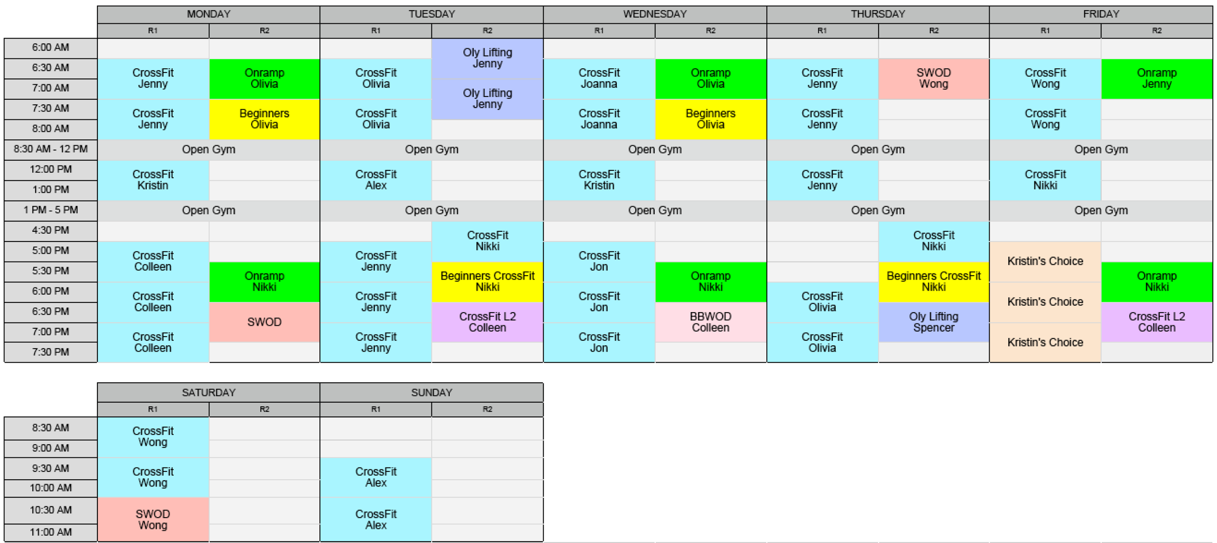Click to see our new schedule!