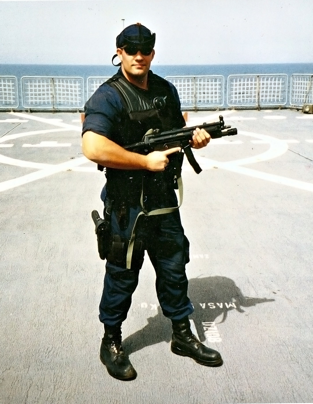 U.S. Coast Guard Petty Officer Third Class Nathan B. Bruckenthal, 24, of Smithtown, New York, assigned to Tactical Law Enforcement Team South, Law Enforcement Detachment 403, based at Coast Guard Air Station Miami in Florida, was killed on April 24, 2004, at the Khawr Al Amaya Oil Terminal off the coast of Iraq when a boat that he and his team intercepted near the terminal exploded. He is survived by his wife Pattie, daughter Harper, born after his death, father Eric, mother Laurie Bullock, and sister Noabeth.