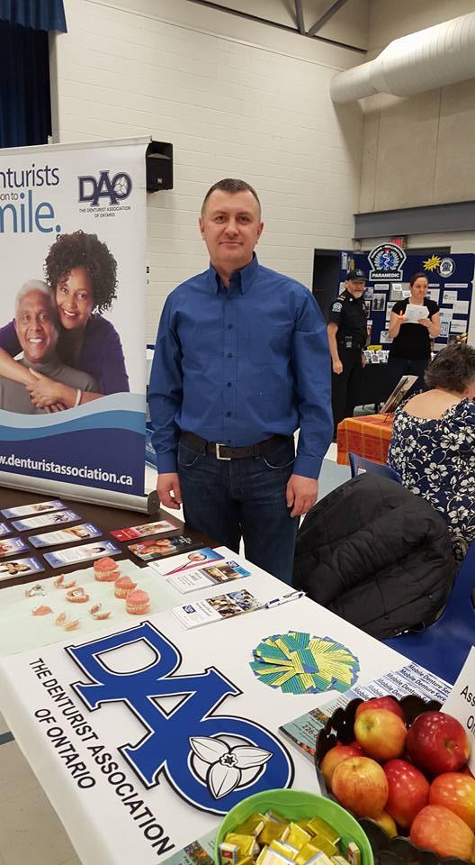 Ernest at Denturist Awareness Event