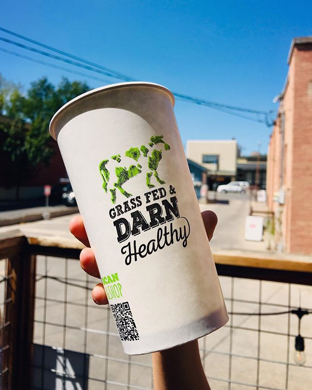 Here's to a new week, cooler weather and grass fed & darn healthy food! #newcups #grassburger #qualitymatters #betterforyou #betterfortheenvironment #regenerativeburger #itsnotthecowitsthehow #ethicalomnivore #grassfed #grassfedanddarnhealthy