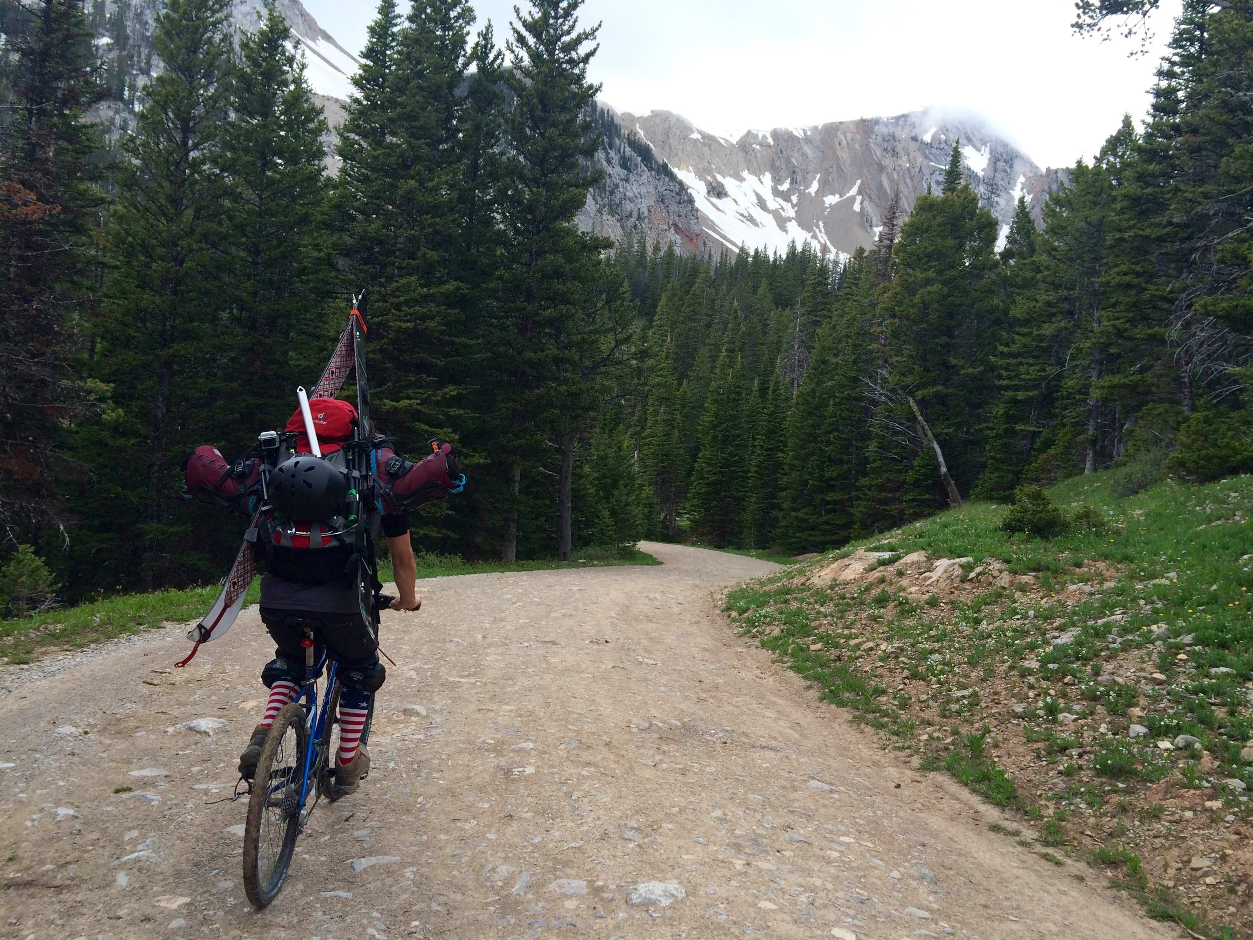 Reese approaching Fairy Lake on his stead.