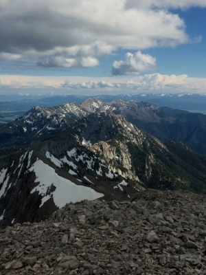 The Ziz-zagging ridge of the Bridger Range from the Top of Naya Nuka
