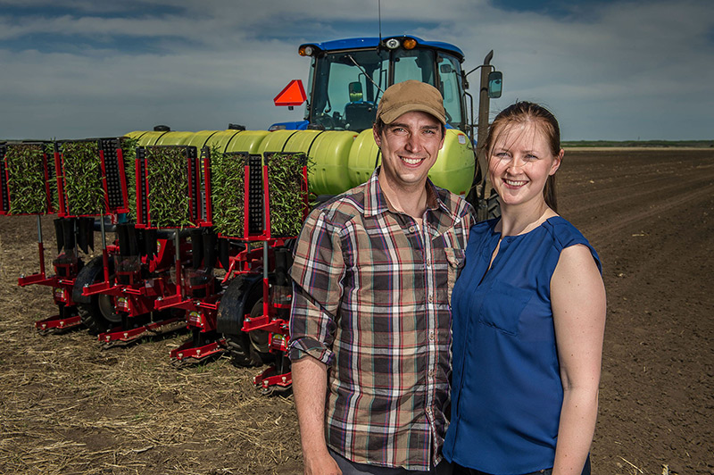 Dan and Chelsea Erlandson, Spring Creek Market Garden, Outlook, Saskatchewan