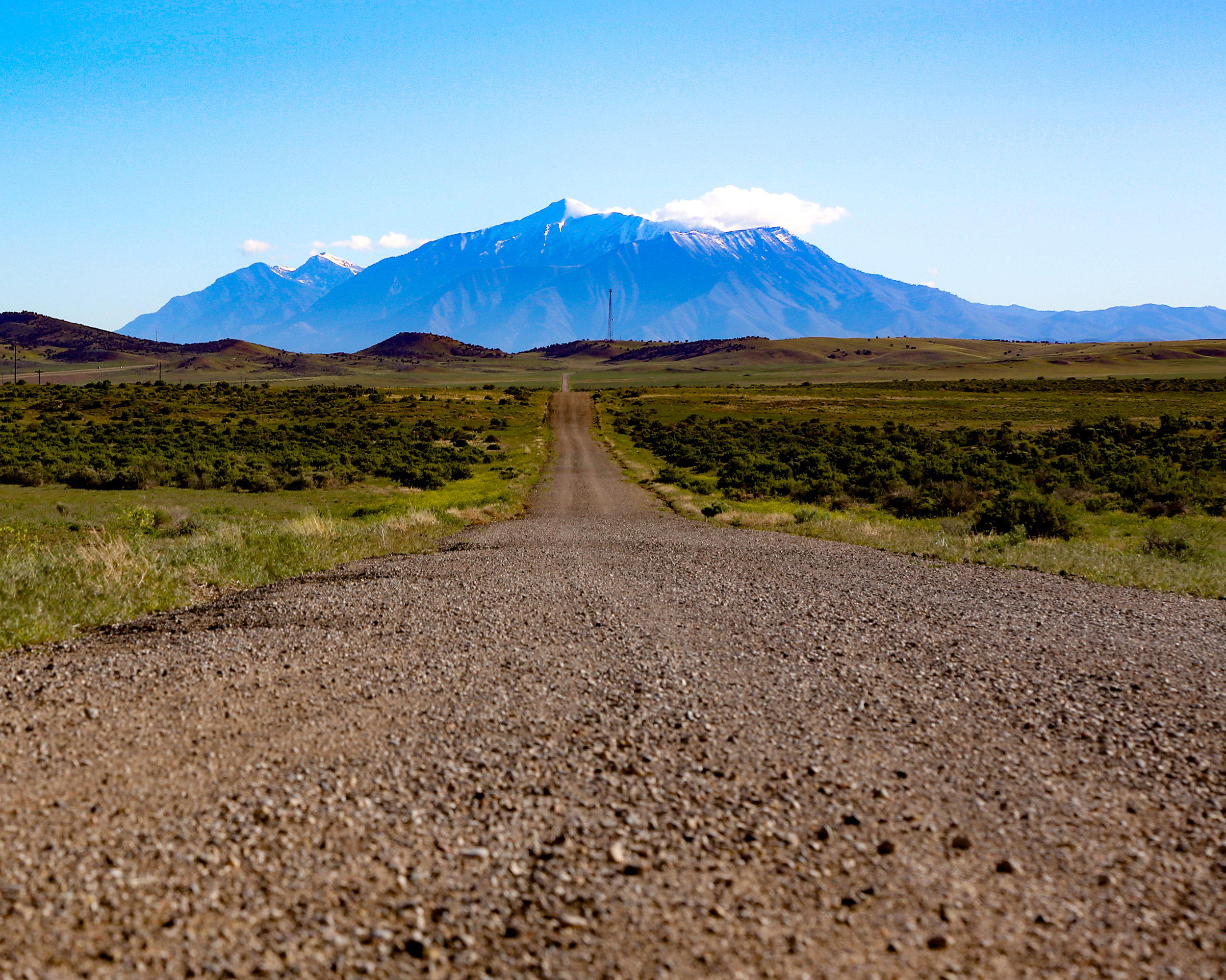 The landscape becomes more arid and mountainous as you travel south.