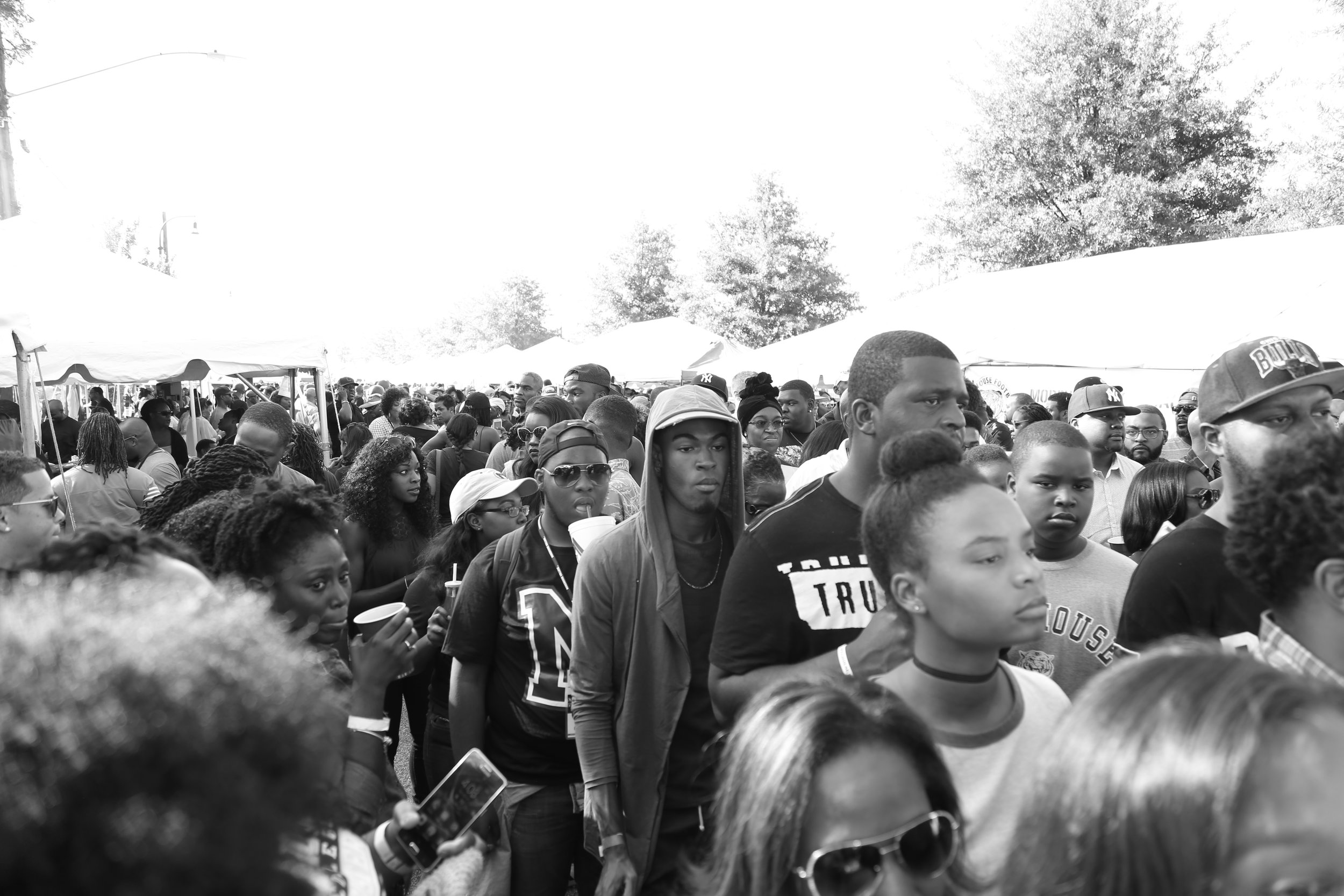 The crowd was thick as half the city came out to celebrate the SpelHouse Homecoming.