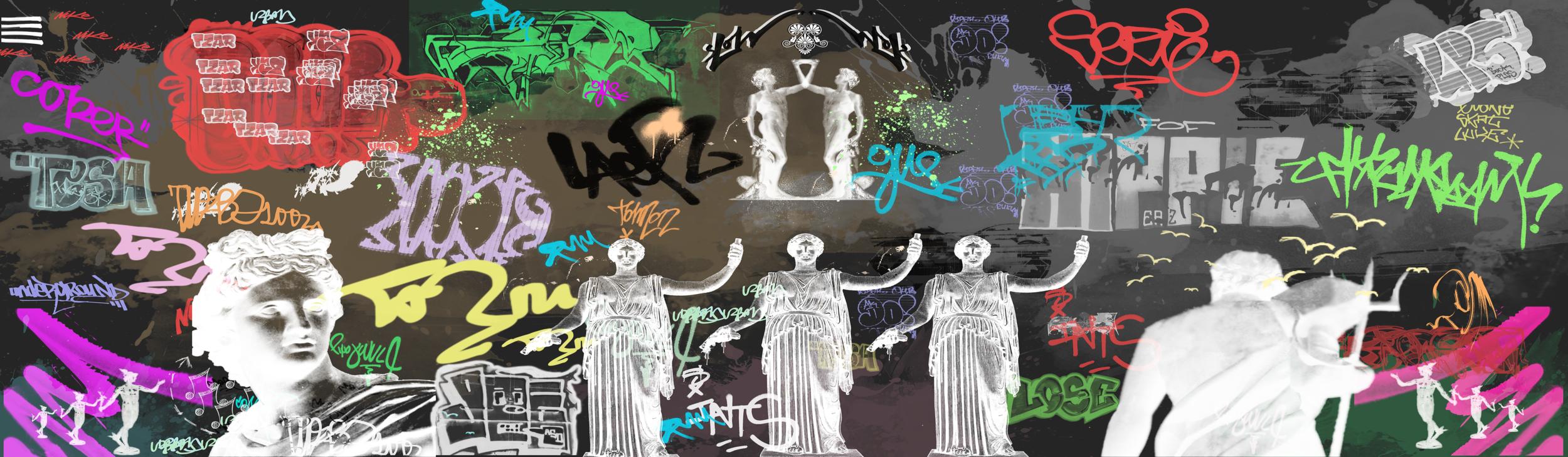 Graffiti Dreams - Mixed Media