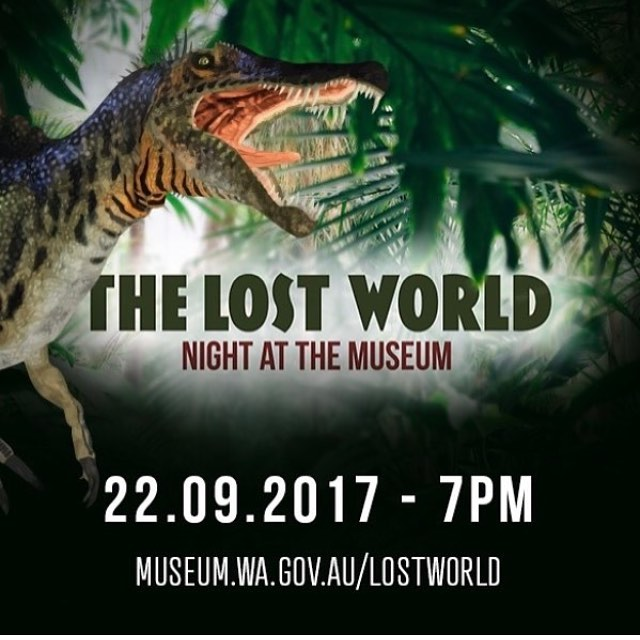 So pleased to be a part of this fantastic fundraising gala event coordinated by the WA Museum Foundation and Artefact Circle. Tickets available at museum.wa.gov.au/lostworld @wamuseum #artefactcircle #wamuseum #rumbleinthejungle #lostcreaturesofthecretaceous