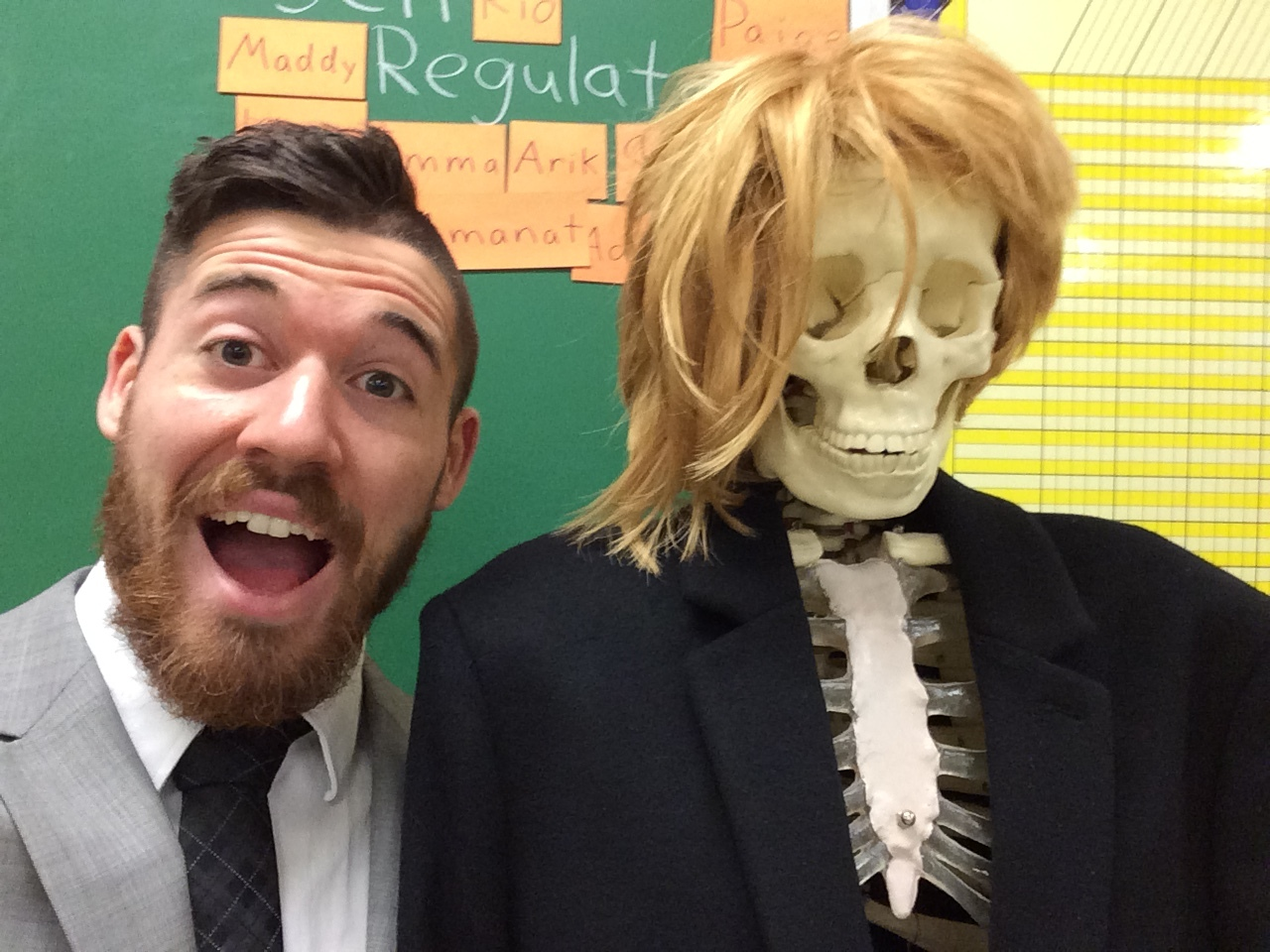 "Teaching about the Human Body with my classroom skeleton, ""Fred."""