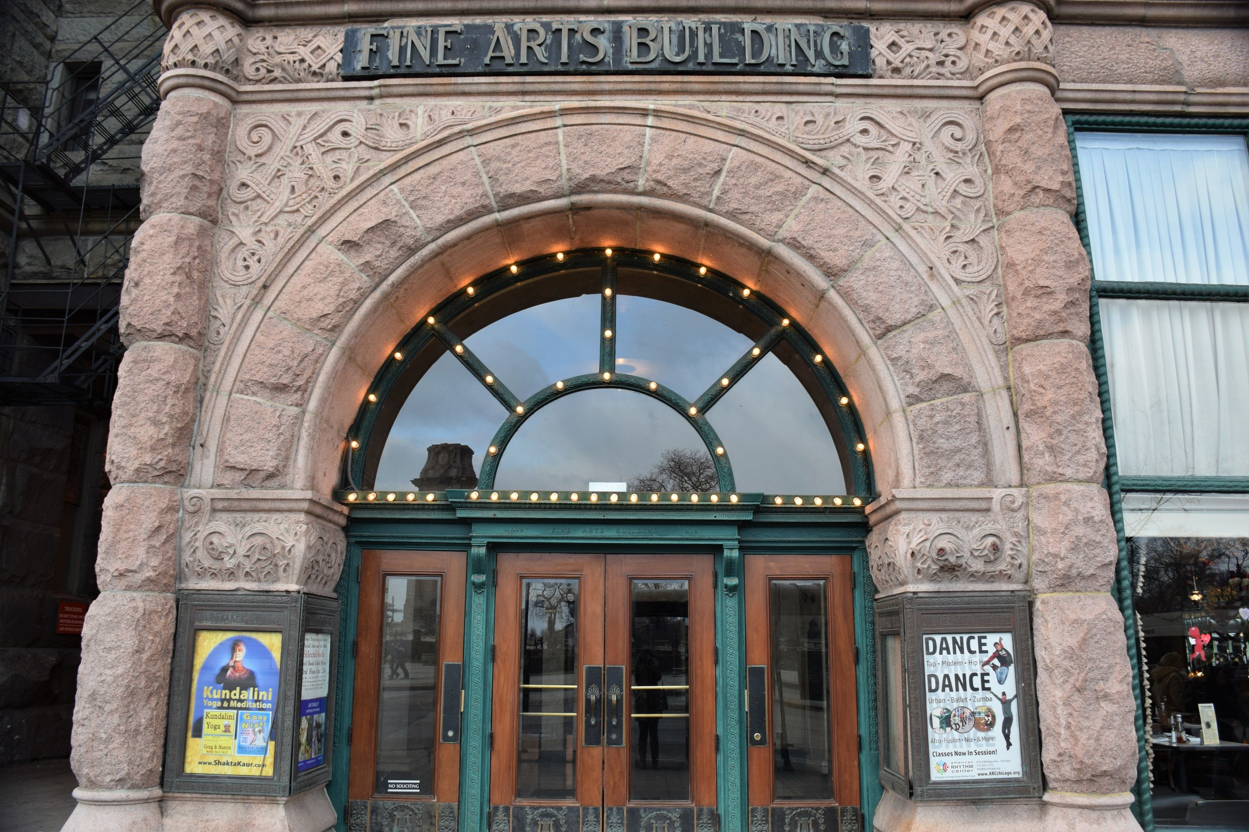 Fine Arts Building Entrance - photos by Maren Robinson