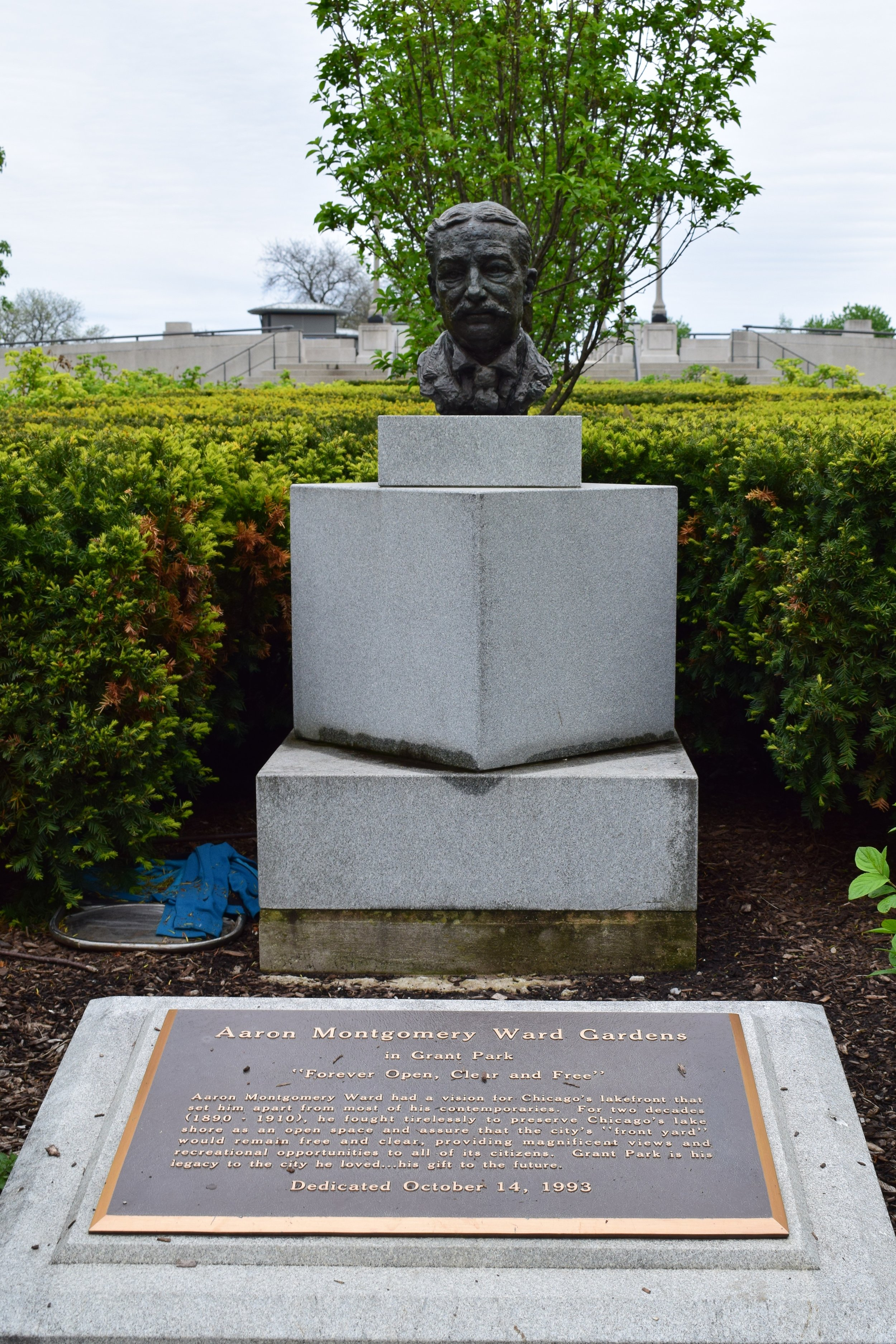 Montgomery Ward Statue in Grant Park - photo by Maren Robinson