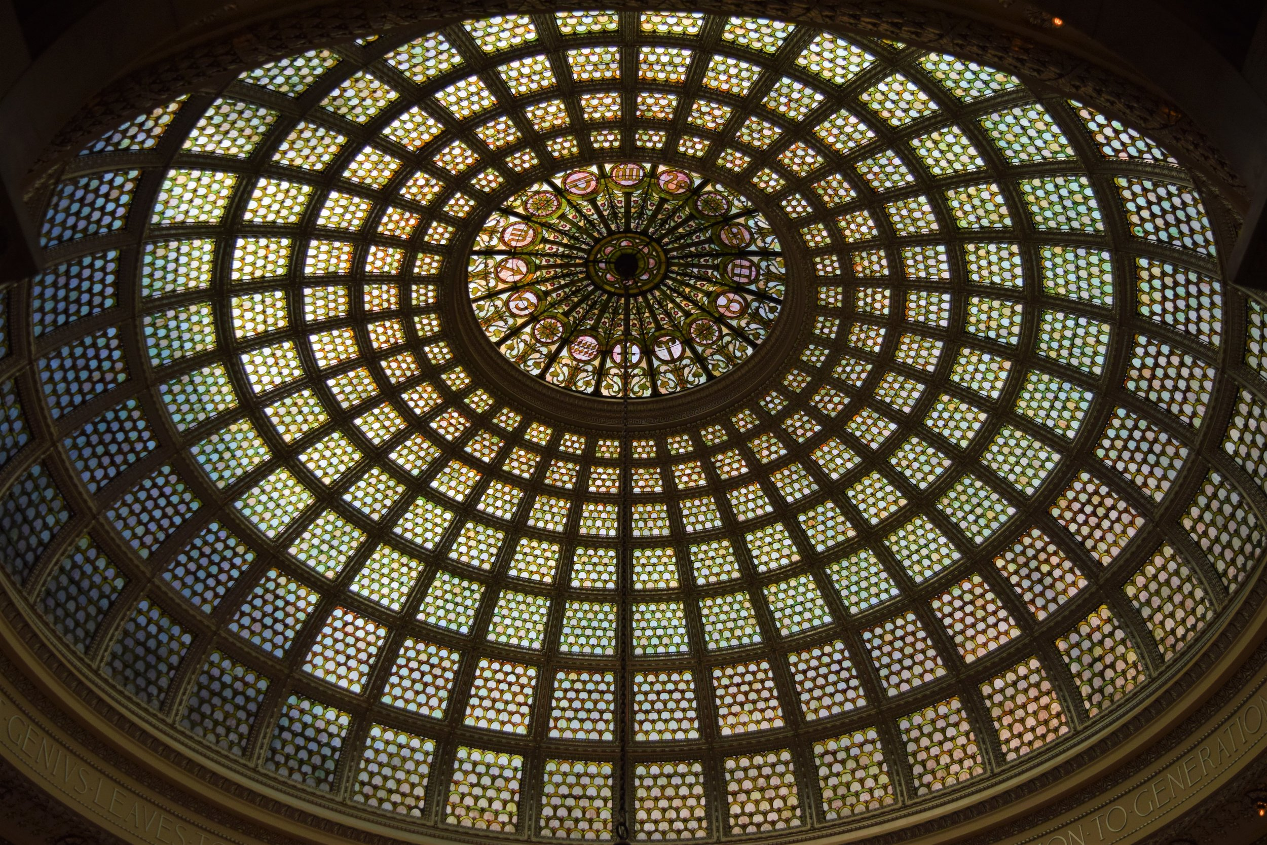 Tiffany Glass Ceiling at the Chicago Cultural Center - photo by Maren Robinson