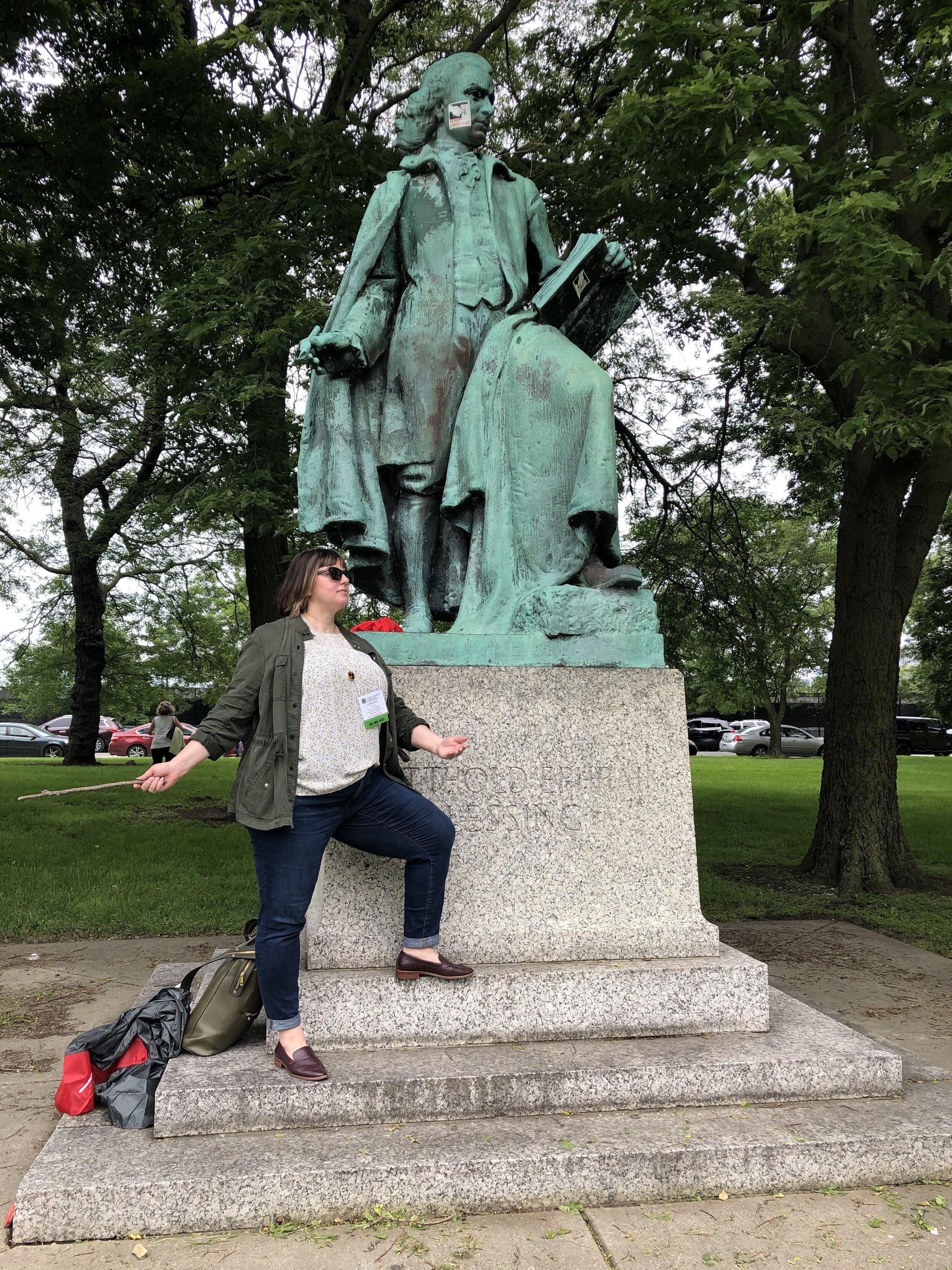 Imitating Lessing - photo by Dr. Karen Jean Martinson