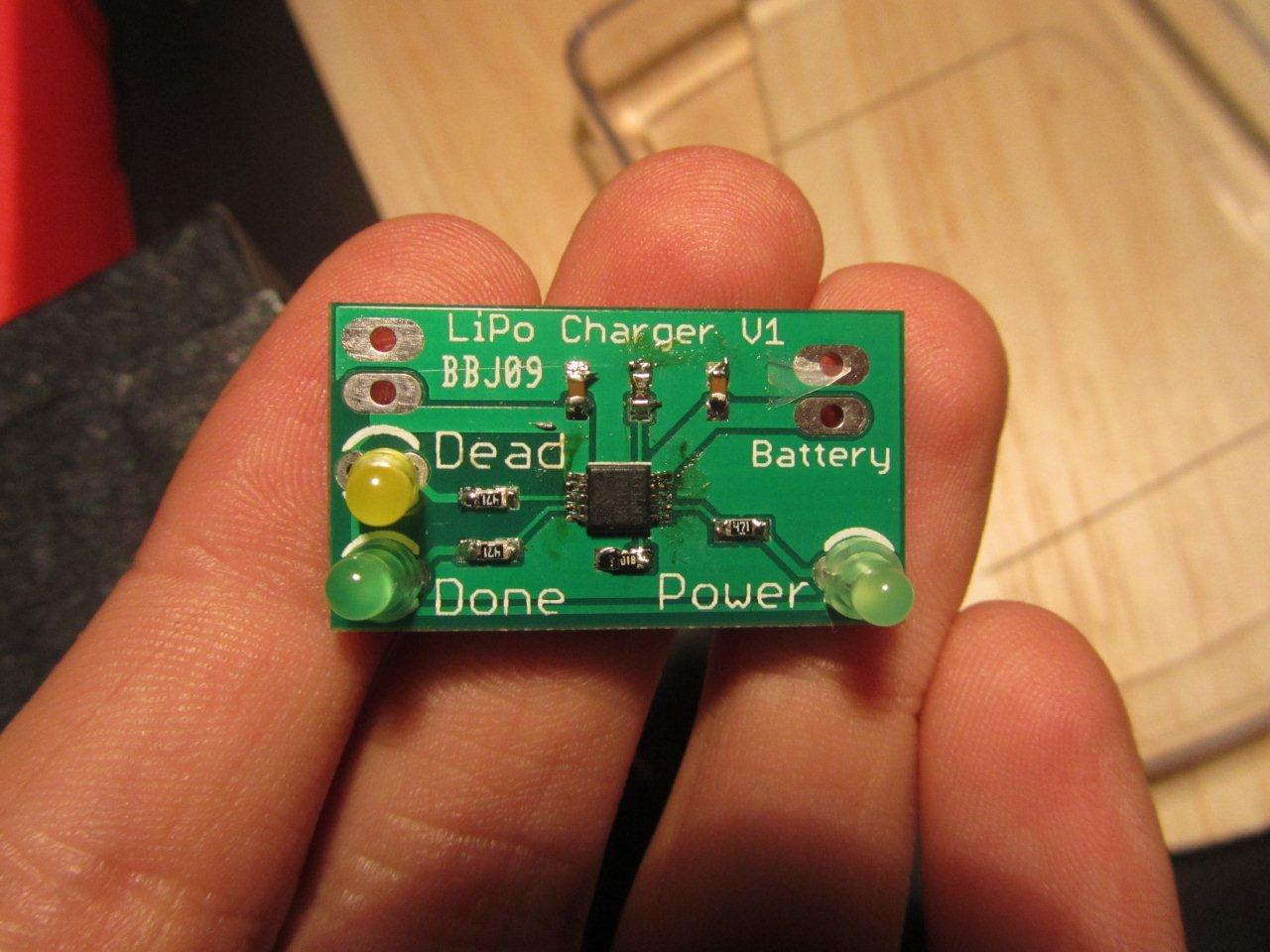 LiPo charger assembled