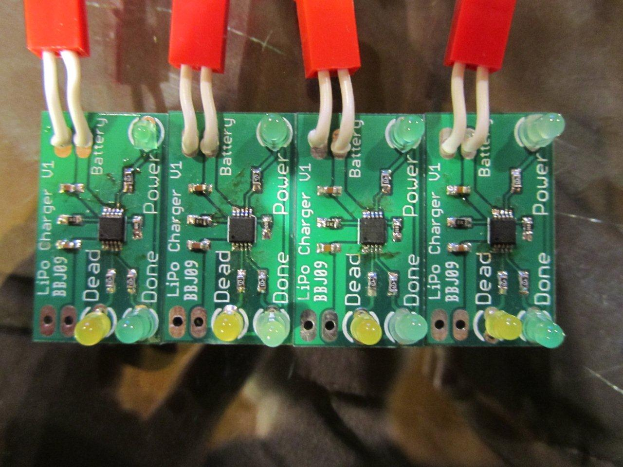 Assembled LiPo chargers