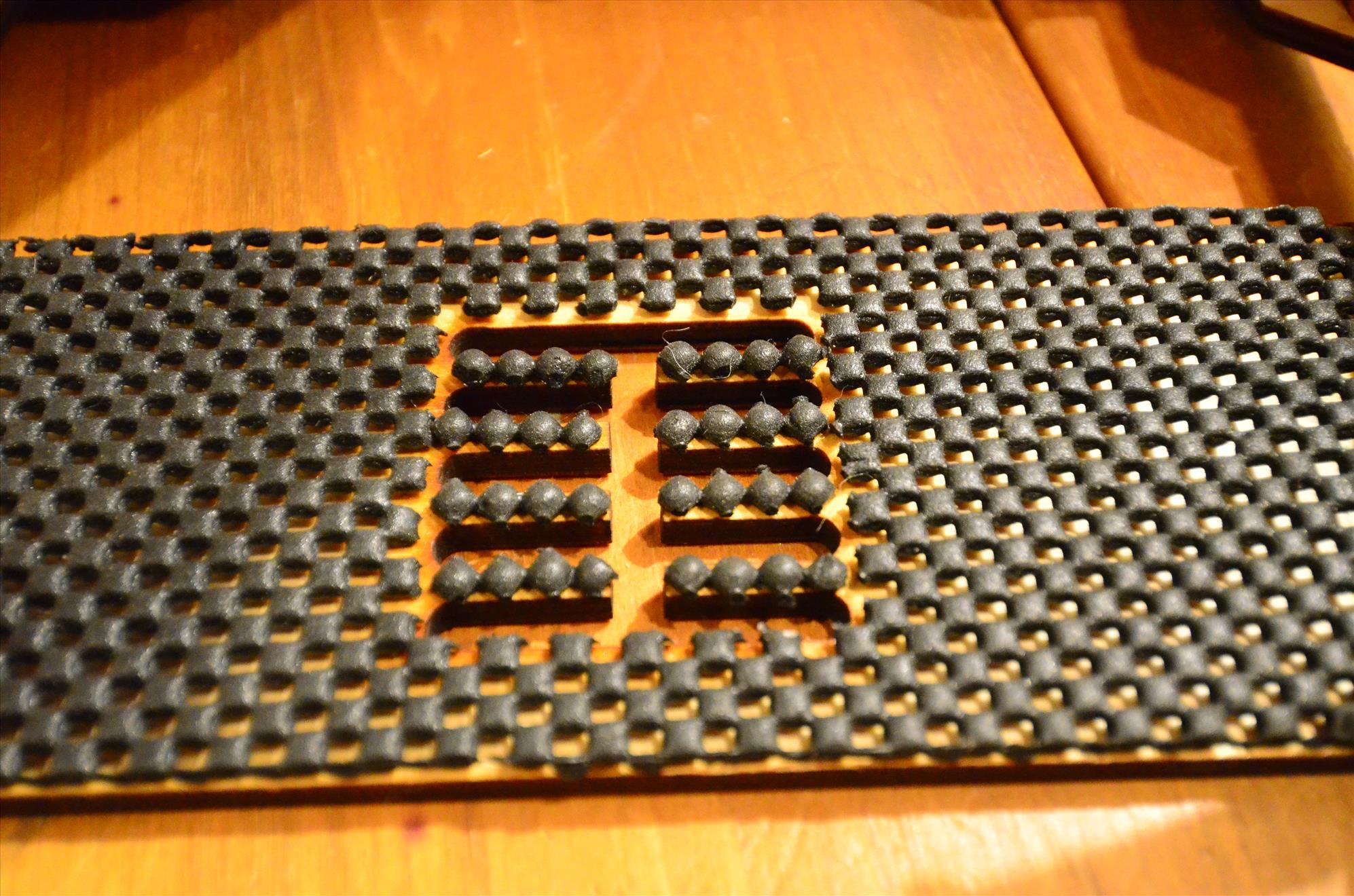 Rubber mat to improve grip