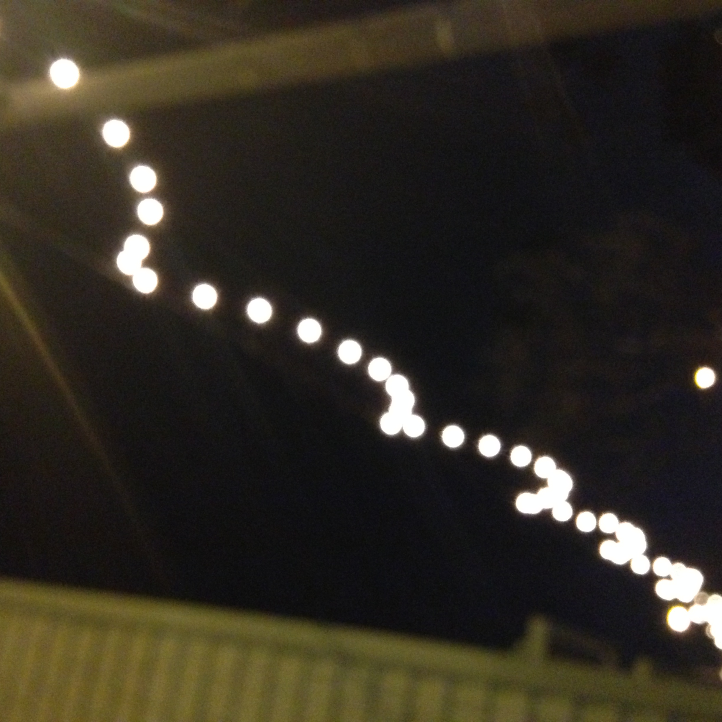 Main Street lights setting a romantic mood for yesterday's date night.