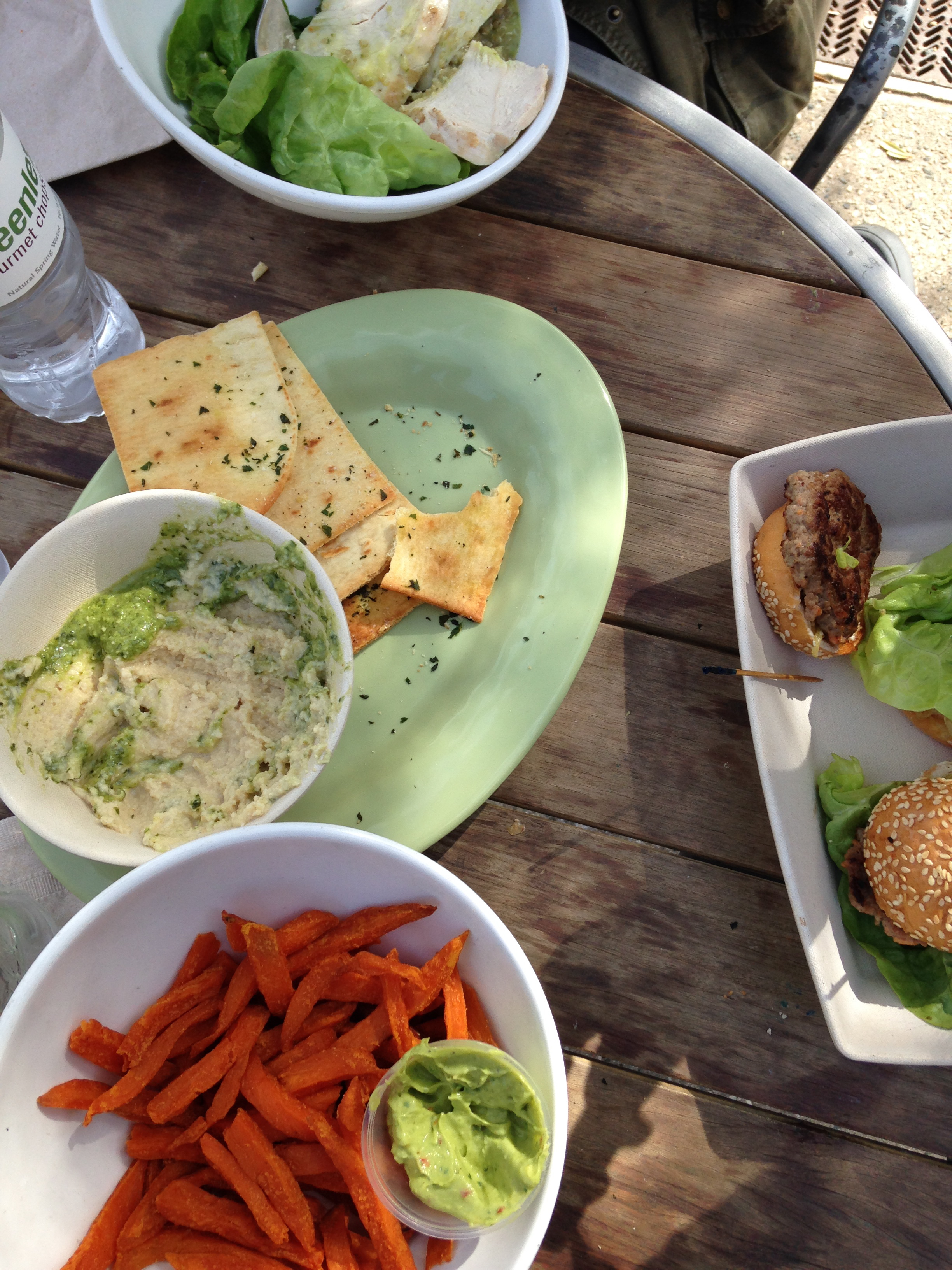 Delicious & healthy lunch at Greenleaf. So good we didn't wait to eat before the picture.