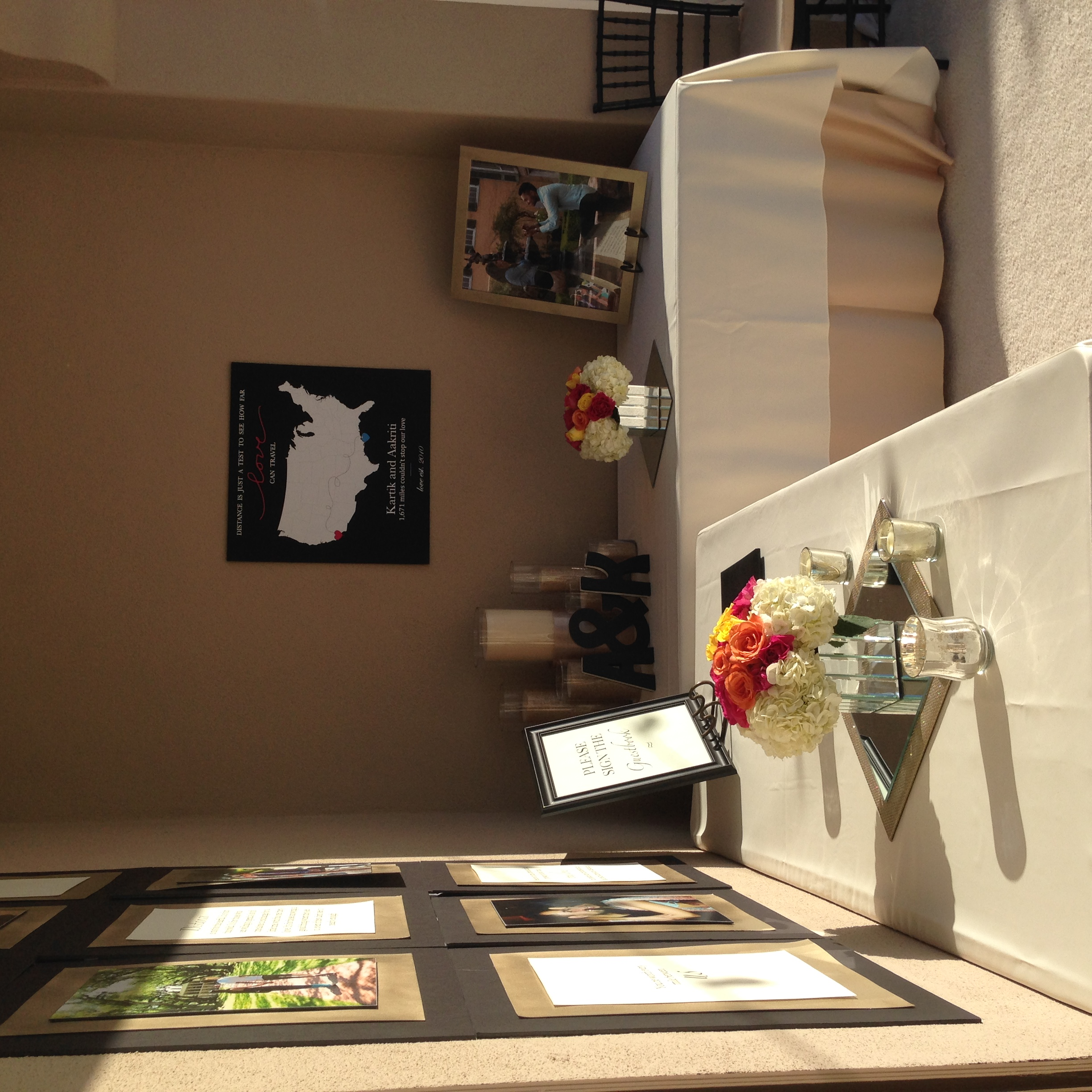 Gorgeous display and area for guestbook/gifts.