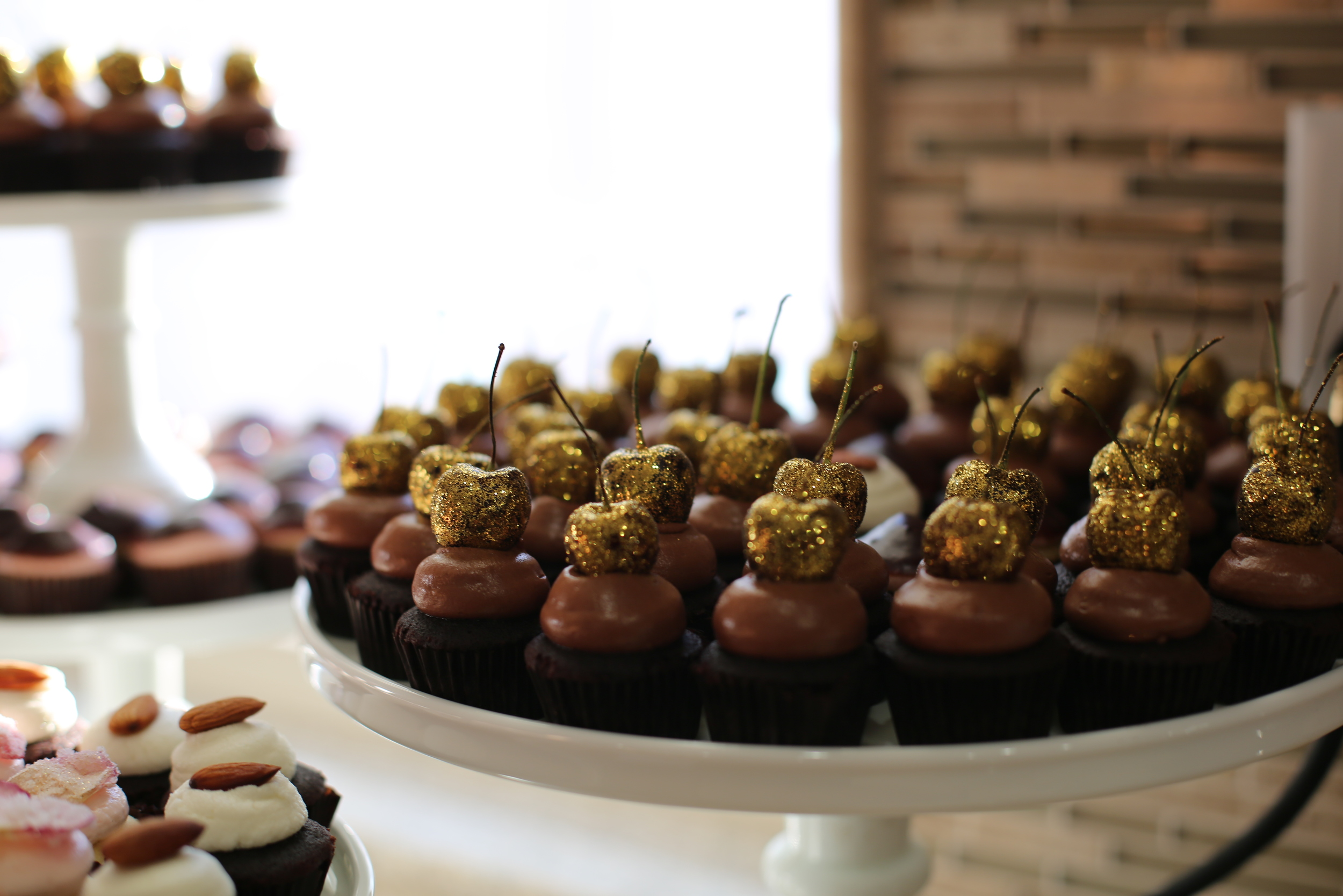 Handmade mini cupcakes by my brother-in-law. He is a genius!!