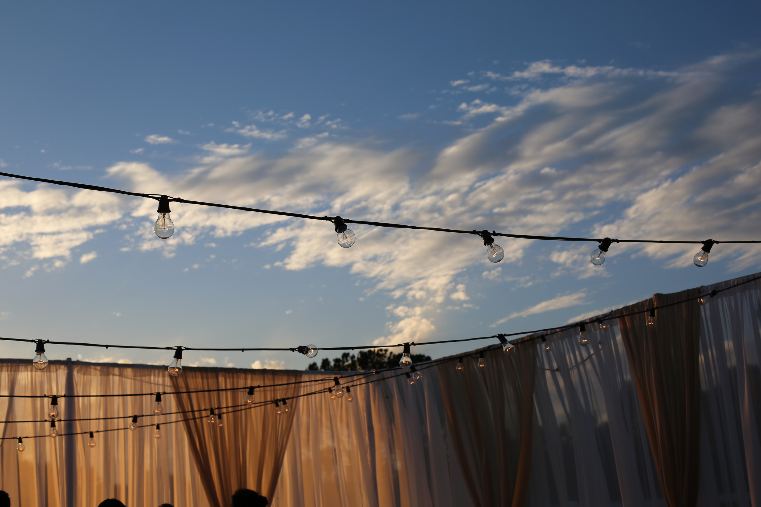 Perfect evening weather for an outdoor party.