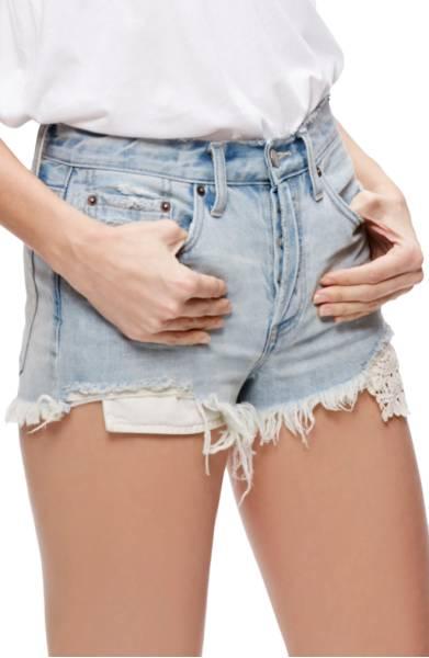 Free People Daisy Chain Cut Off Denim Shorts