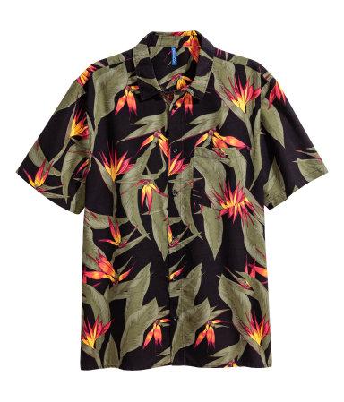 H&M Mens - Viscose Resort Shirt