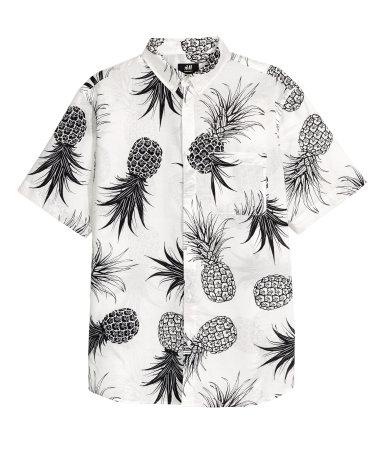 H&M Mens - Regular Fit (White/Pineapple)