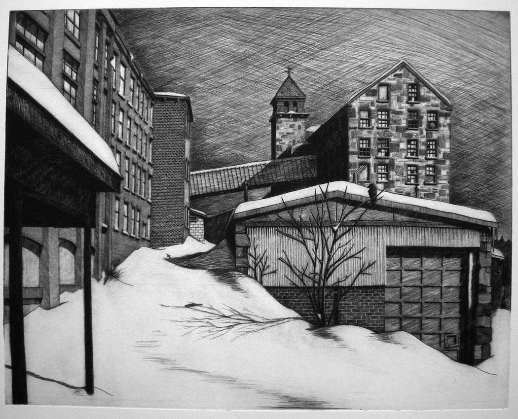 Snowdrifts at Essex Mill