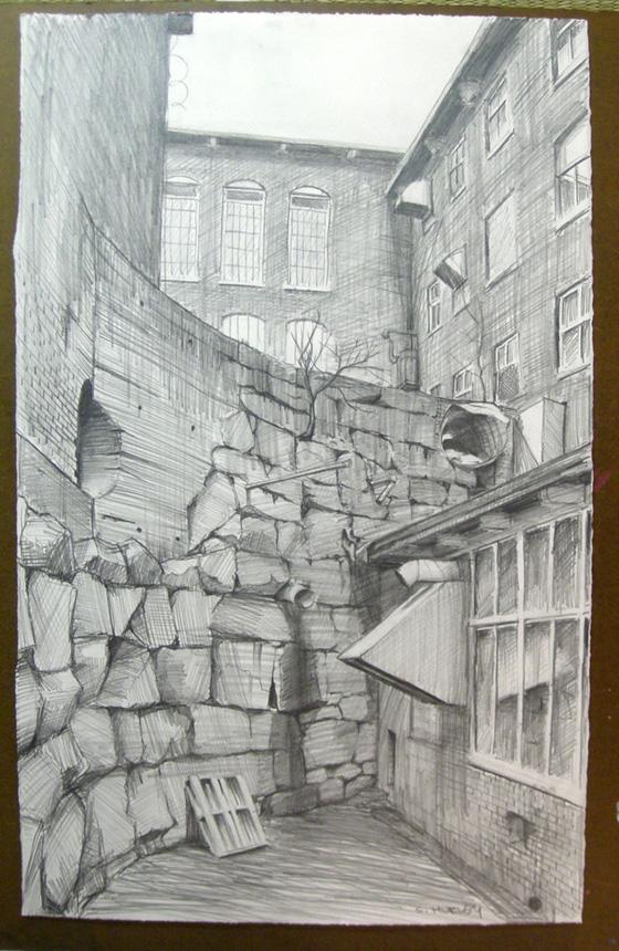 """North Dam Mill (Study for """"Subterrane"""")"""