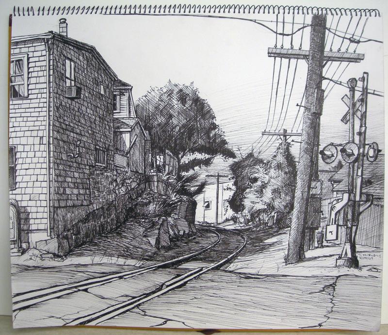 Railroad Crossing (Cedar St. Gloucester, MA)
