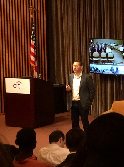 Matt Ronen  speaks at Citigroup headquarters to internship class.(July 22, 2015)