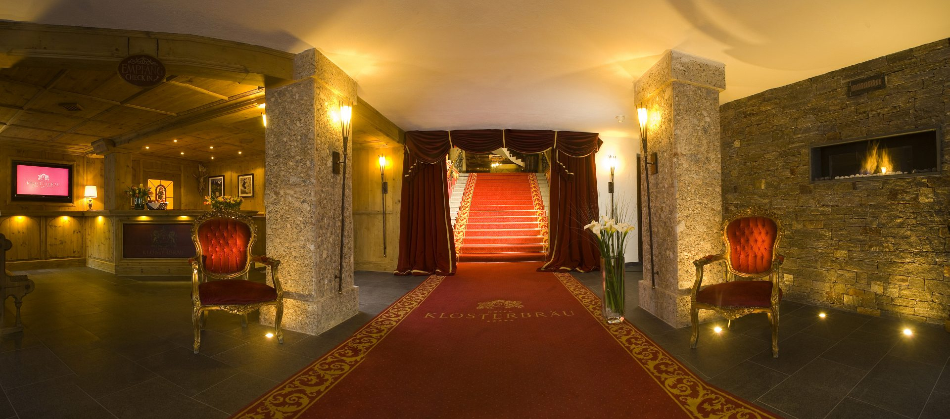 Der Klosterbräu in Seefeld kommuniziert mit seinen Gästen ab sofort überden Hotelkanal INNFO.tv !