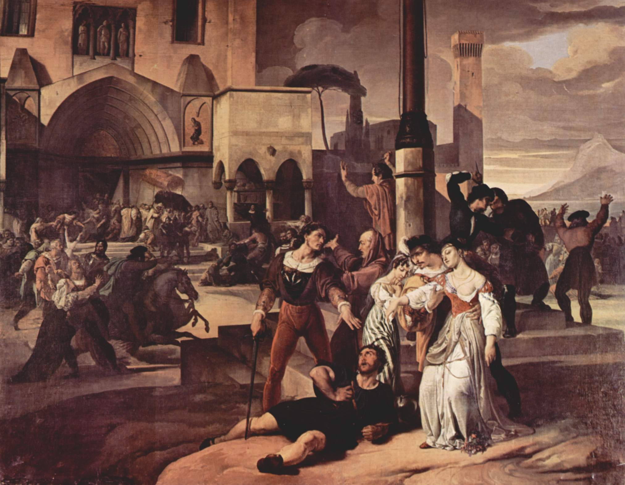 « I Vespri siciliani » by Francesco Hayez