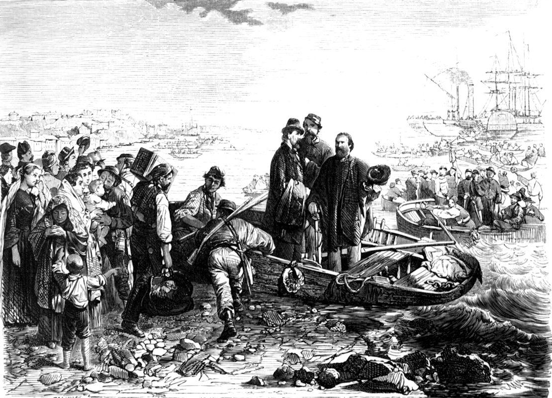 Imbarco di Garibaldi aGenova per la Sicilia