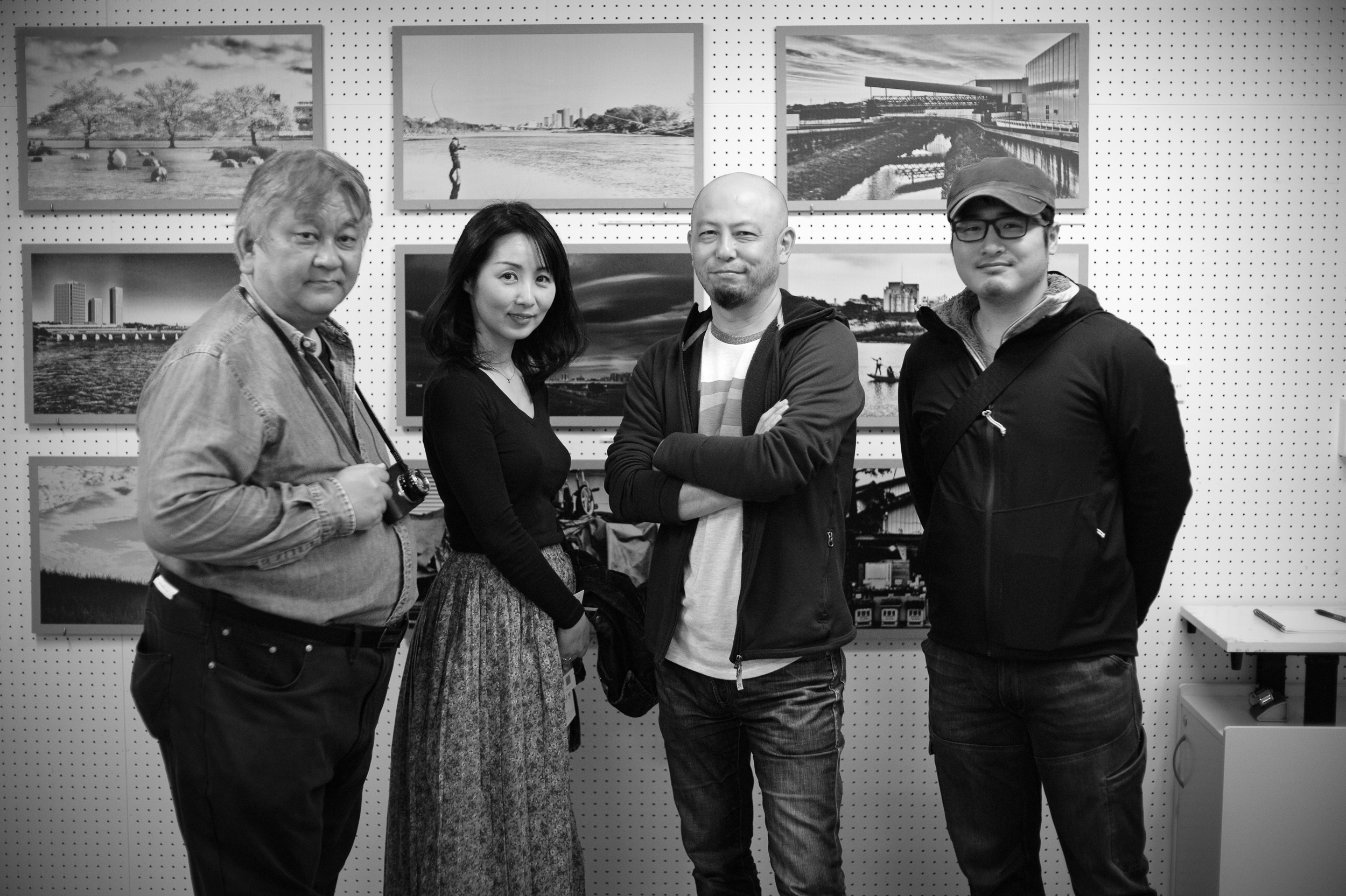 Group shot at Koichi Mitsui's photo exhibition at Setagaya Art Museum / Taiji Kiyokawa Memorial Gallery