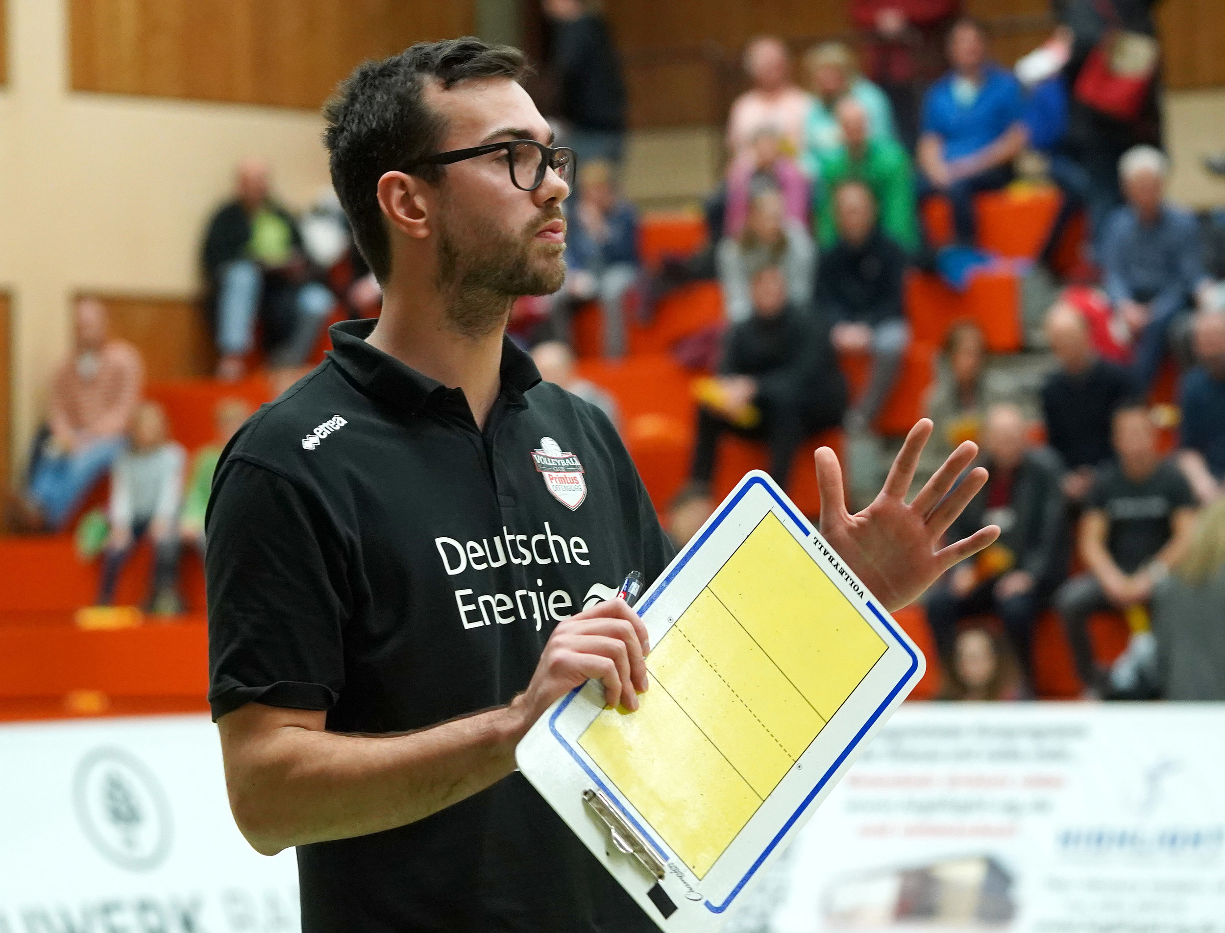 Florian Völker German Jr National team assistant + Sr national team volunteer since 4 years. - He also coached at the German National youth center of VCO Berlin which works with only National Team pipeline youth. Florian won the championship in the 2. League in Germany with his current club, VC Printus Offenburg in 2018 and 2019 and works especially with young players to develop them for a career as a pro player. Before his coaching career he played 5 years professional as a setter in Germany's top division. During his time as a pro player he worked in off-season with international beach-volleyball teams on FIVB world tour