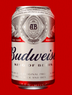 New Budweiser brand pack design.