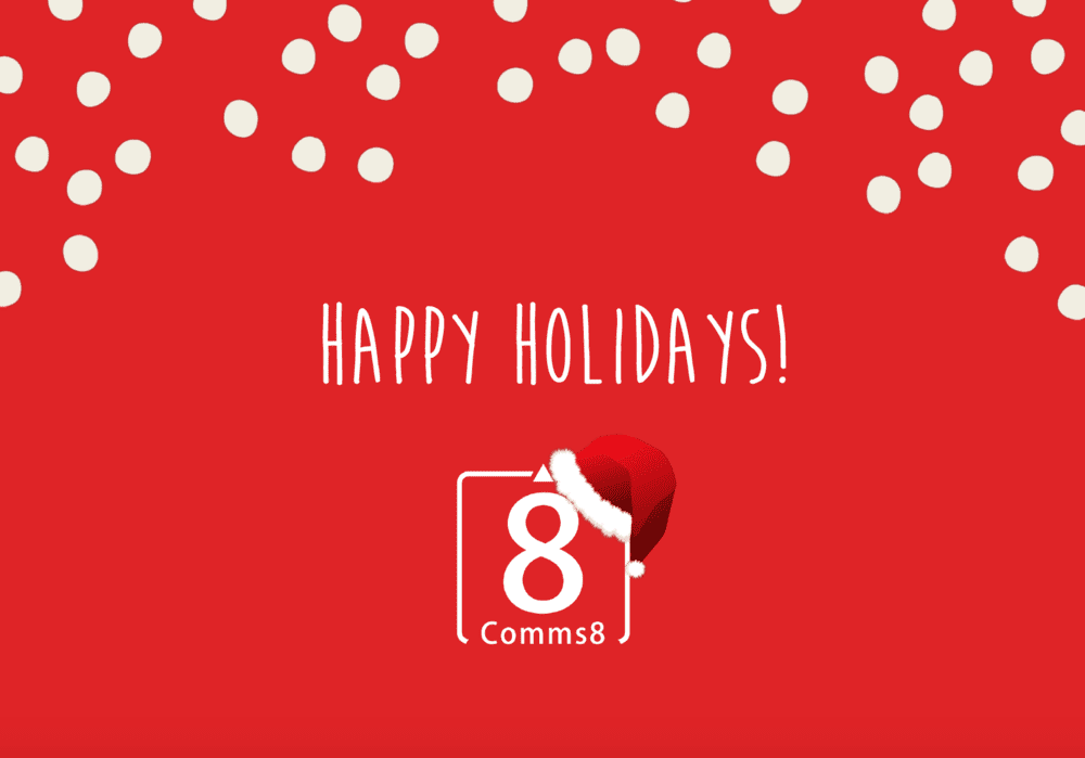 Holiday greeting from Comms8