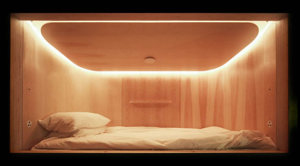 Capsule Hotel's bed