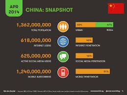 Data of Chinese internet users