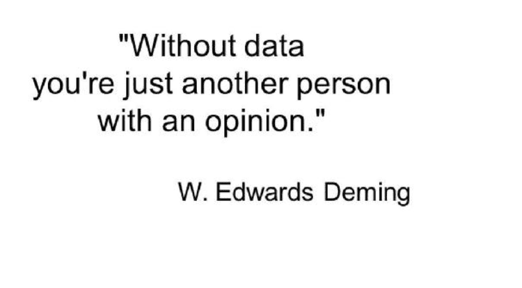 A saying by W. Edwards Deming