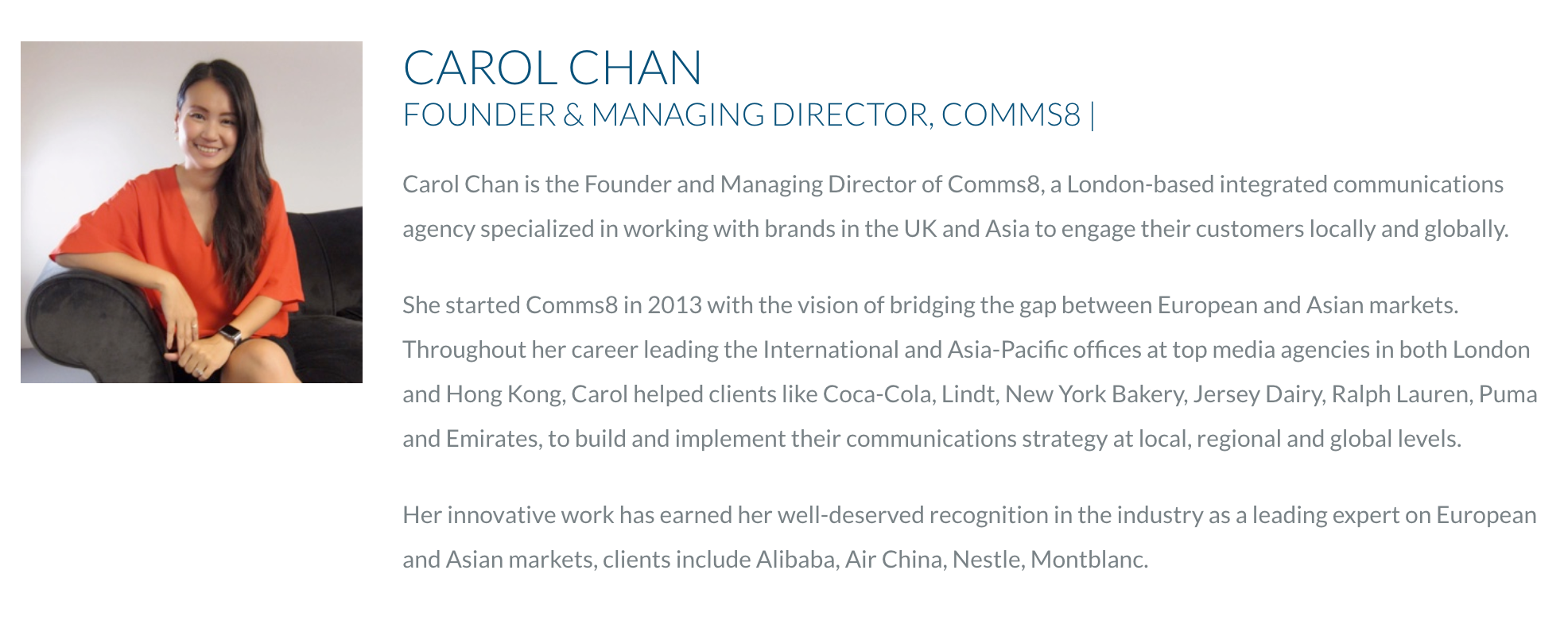 Carol Chan Joins Judging Panel for Upcoming PRCA DARE Awards