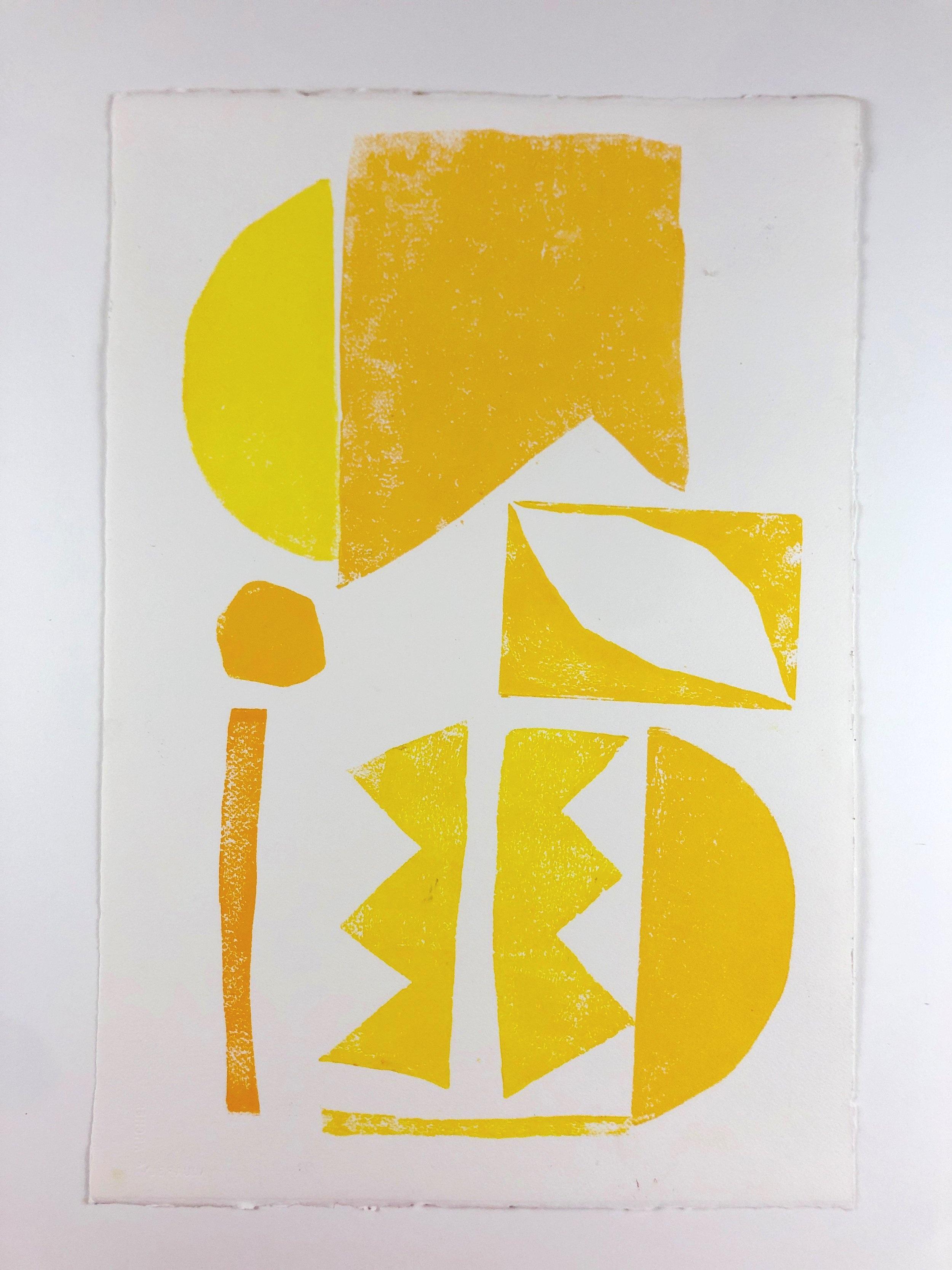 Yellow Print 1