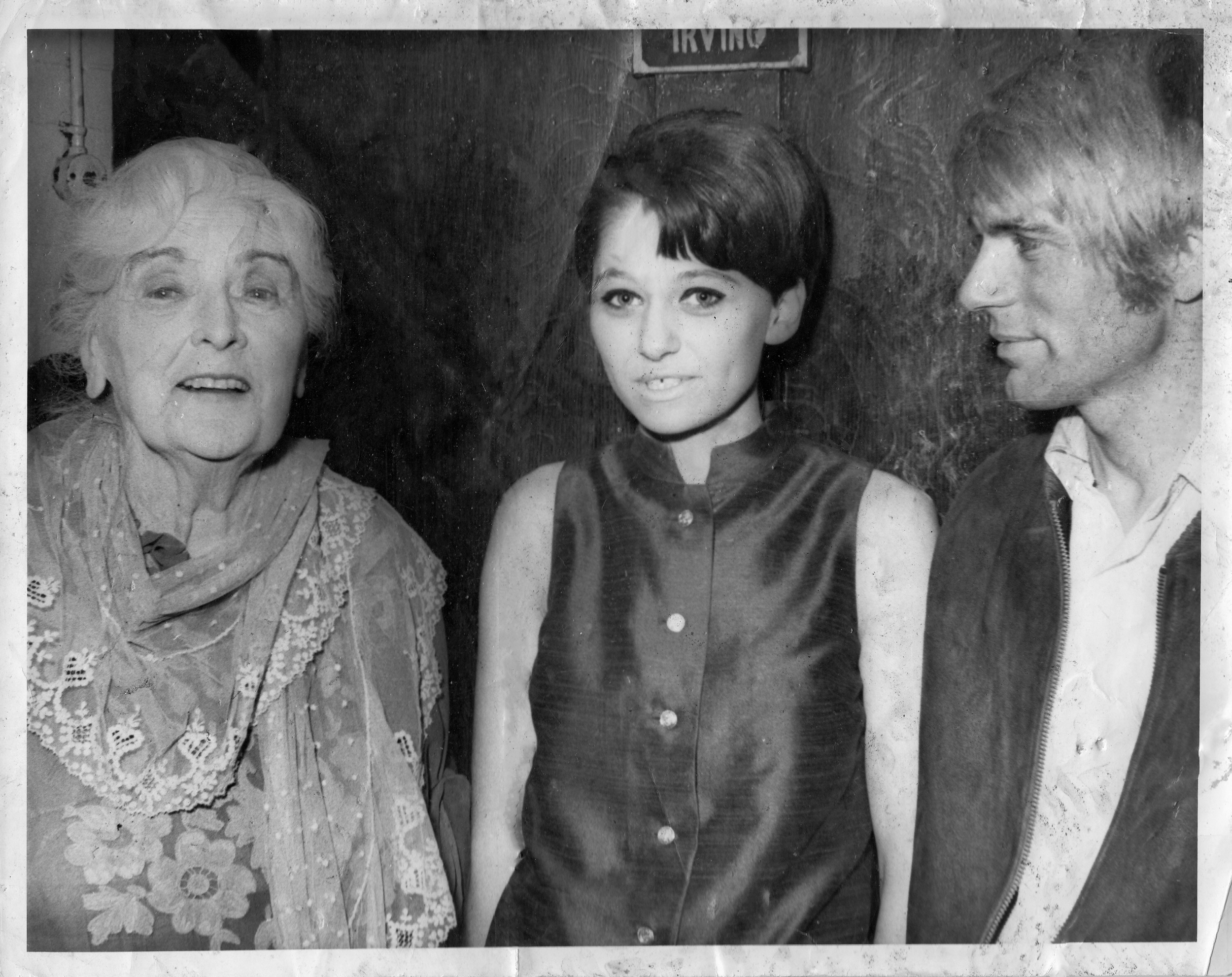 Me between two people I greatly admired - Dame Sybil Thorndike and Adam Faith - both of whom I was totally in awe of.